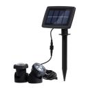 Dual Head 6 LED Cool White Solar Powered Waterproof Garden Patio Spotlight