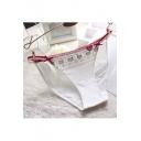 Fashion Lace Trim Strapy Cat Print Panty