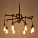 8 Light Pipe Ceiling Steel LED Pendant Indoor Lighting