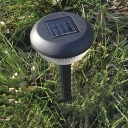 Set of 2 Simple Style 13 Inches High  Wireless Waterproof Solar Powered Pathway Lawn Lighting