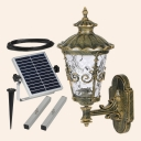 Beautiful 16 Inches High Traditional Solar LED Wall Mount with Intricate Motif