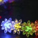 Solar 30 Pics Lotus 22 ft Fairy Christmas Decorative Lights Solar String Lighting