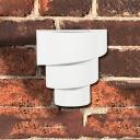 Metal White Single LED Solar Wall/Deck Light