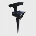 Set of 2 Black Finish Weatherproof LED Single Head Adjustable Solar Landscape Spotlight