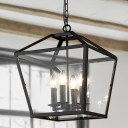 4 Light LED Semi Flush In Oil Rubbed Bronze Chandelier in Traditional Style