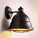 Satin Black 1 Light Barn Style LED Wall Sconce