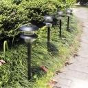 Set of 2 Solar Powered 2 LED Weatherproof Plastic Outdoor Landscape Lighting