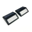 2 Pack 6 LED Black ABS Solar  Step Light