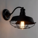 Black 1 Light Wall Down Light Outdoor LED Wall Sconce