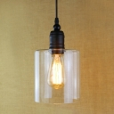 Cheap Industrial LED Mini-Pendant Light with Cylindrical Shade