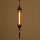 23'' H Steam Punk Single Light LED Hanging Pendant Light in Antique Copper Finish