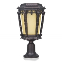 17'' High Traditional Style Decorative Super Bright Solar Powered LED Patio Pillar Light