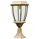 11'' High Aluminum Mini Outdoor Post Light in Antique Bronze Finish