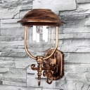 Adorable Bronze 9 Inches Wide Solar LED Decorative Garden Wall Light with Unique Hat Design