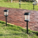 Set of 3 Solar Powered LED 15 Inches High Landscape Pathway Lighting