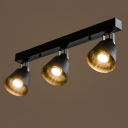 24 Inches Wide 3 Light Industrial Style LED Spotlight Ceiling Light