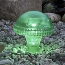 Green Light Four Inches Plastic Solar Powered LED Garden Landscape Decorative Lighting