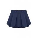 Women Fashion Candy Color Mini Shorts Skorts