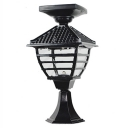 Lattice 18'' H Black Wireless Solar 12 LED Outdoor Post Lighting