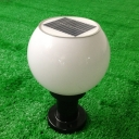 Modern Acrylic 8'' Wide Mini Solar Decorative LED Post Light in Globe Shape