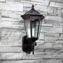 Traditional Style  17'' High 1.3 Watt Solar LED  Wall Light  in Black Finish