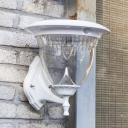 Super Bright 16'' High Light Sensor Modern Style Cool White Constant Outdoor Solar LED Wall Light