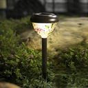 Beautiful Flower Motif 16'' H Solar Powered Garden Decorative Pathway Lighting