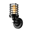 Matte Black 10'' H Single Light Uplight  Wire Guard LED Wall Light