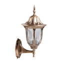13 Inches High Antique Bronze LED Solar Outdoor Wall Sconce with Solar Panel