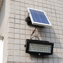 44 LEDs Super Bright Solar Powered Flood Light Wall Mount Security Light