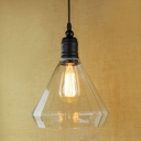 8 Inches Wide Simple Industrial Style 1 Light LED Pendant with Clear Cone Shade