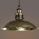 Antique Brass 1 Light LED Pendant Ceiling Light