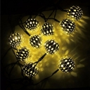Solar 20 Pics Weatherproof Energy Saving Golden Ball String Lighting Kit