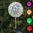 4'' W Color Changing Crystal Ball Decorative Outdoor Solar Powered LED Garden Stake