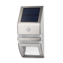 Single LED Stainless Steel Solar Powered Motion Sensor Outdoor Step Light