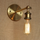 Bare Bulb LED Mini-Wall Light in Brass