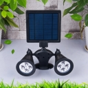 Dual Head Color Changing Solar Powered LED Adjustable Wall Mount Landscape Security Lighting