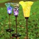 5 Inches Wide Flower Shape Solar Powered LED Decorative Garden Stake