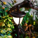 23 Inches High Warm White Solar Powered Landscape Lawn Pathway Lighting
