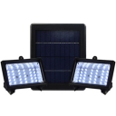 Super Bright 30 LEDs 6V Dual Head Solar Powered Cool White Flood Light