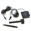 Waterproof  Adjustable Small Solar Powered 6 LEDs Spotlight in Black Finish