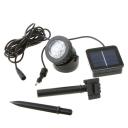 Waterproof  Adjustable Small Solar Powered 6 LEDs Spotlight in Black Finish