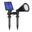 4 LED ABS Solar Outdoor Yard Landscape Spotlight