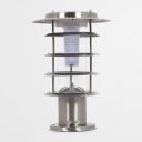 5 Tiers Chic Design  Stainless Steel Light Sensor Solar Powered LED Lawn Post Pillar Lighting