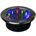Multi-Color Cast Aluminum Weatherproof 12 LED Solar Deck Light
