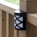 Outdoor Black Solar Powered Deck/Step Light with 6 LED