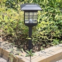 18 Inches High Solar Powered Outdoor Pathway Garden Stake Light with Square Clear Shade