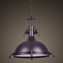 Nautical LED Pendant Light with Frosted Diffuser 18'' Wide
