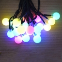 20 LEDs Plastic Ball 2 Modes Steady on / Flash 30 ft Solar Outdoor Holiday Christmas String Light
