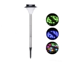 Modern Stainless Steel 12 LEDs Super Bright Solar Powered Pathway Lighting (More Light Color Available)